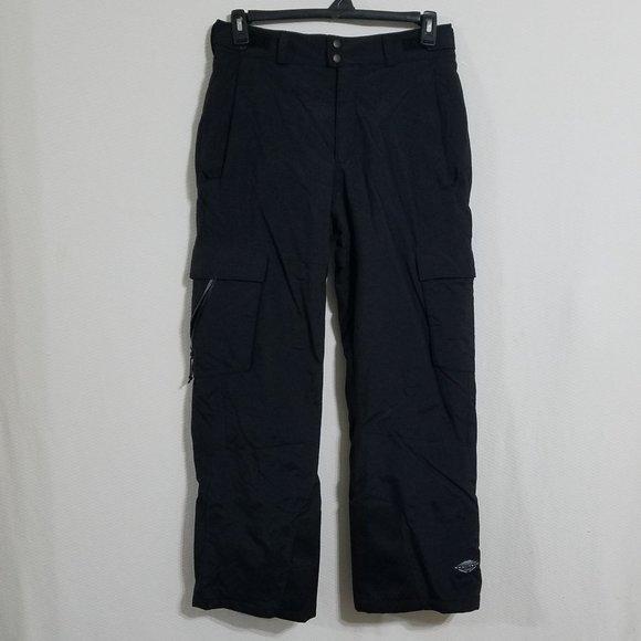 Columbia Mens Snow Pants GRT Small Black Snowboard